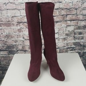 Impo Shoes - Impo Wide Calf Burgundy Boots Size 8.5